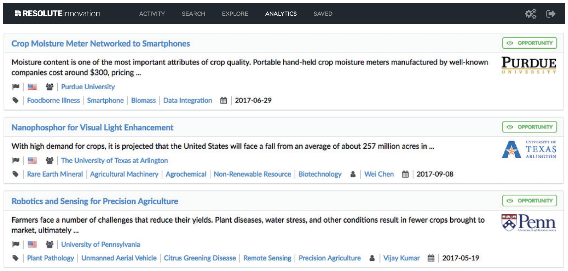 ResoluteAI's scientific discovery engine, Foundation, identifying tech transfer opportunities